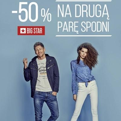 -50% NA DRUGĄ PARĘ SPODNI W BIG STAR