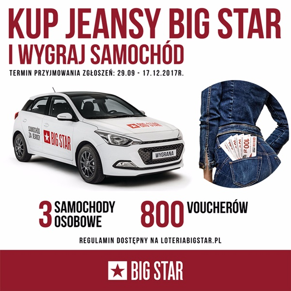 SAMOCHÓD ZA JEANSY W BIG STAR!