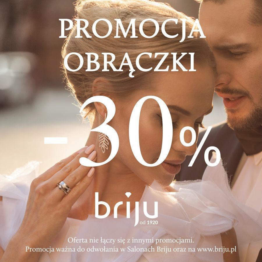 -30% NA OBRĄCZKI W BRIJU