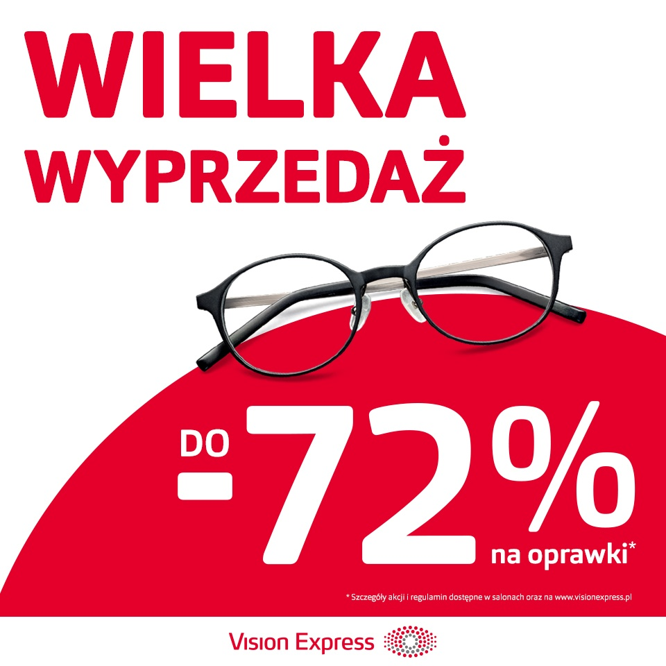 DO -72% NA OPRAWKI W VISION EXPRESS