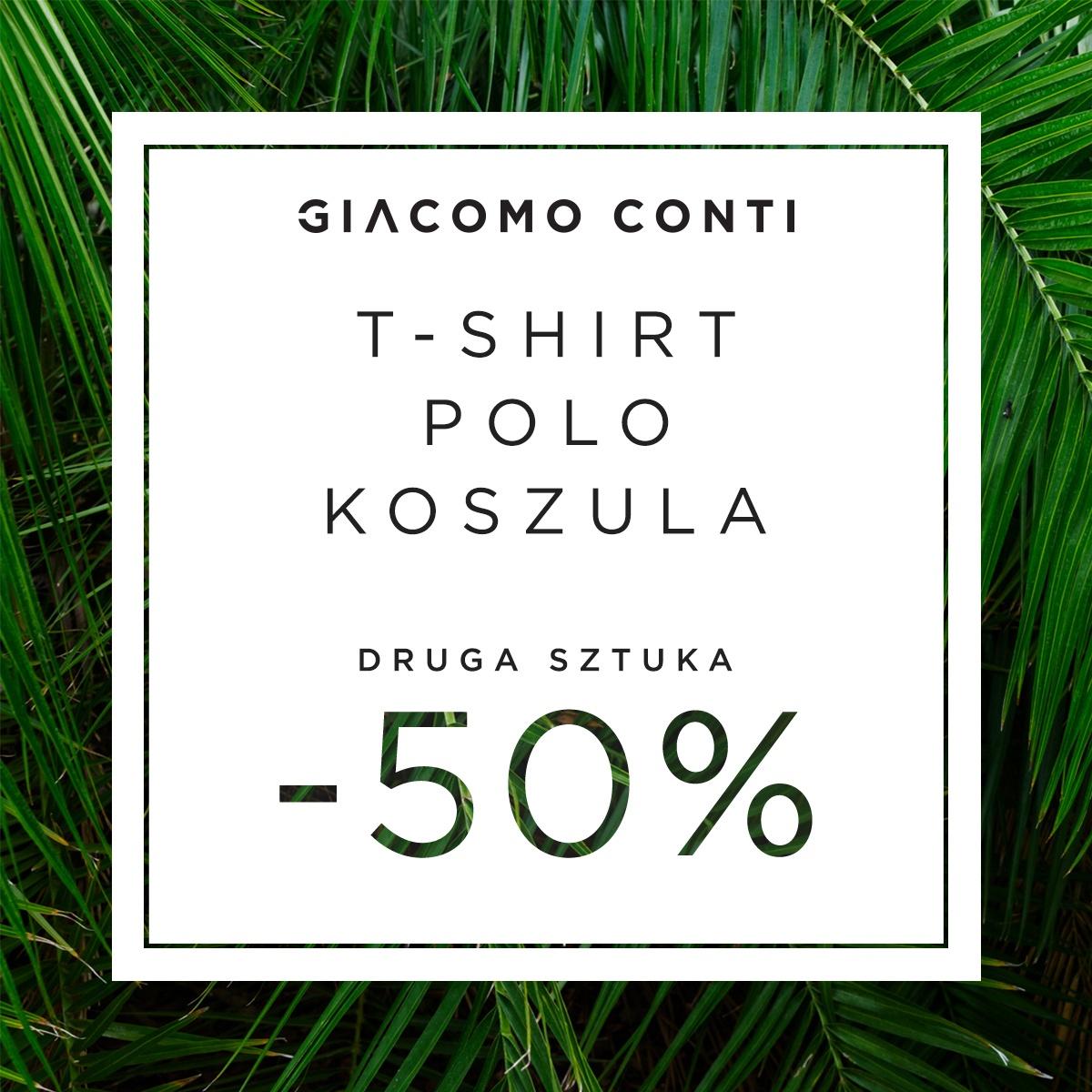 - 50% NA DRUGI PRODUKT W GIACOMO CONTI
