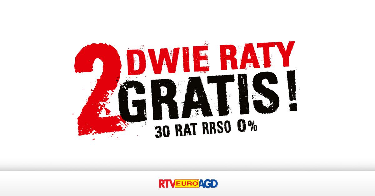 DWIE RATY GRATIS!