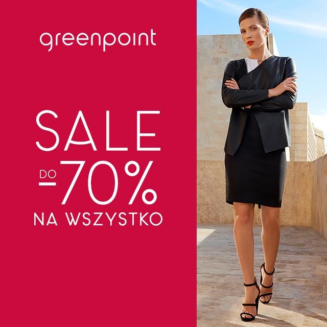 Wyprzedaż do - 70% na wszystko w Greenpoint!