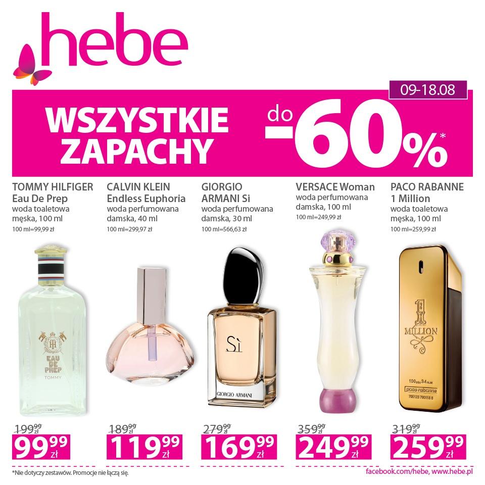 Wszystkie zapachy do -60% w drogerii i HEBE
