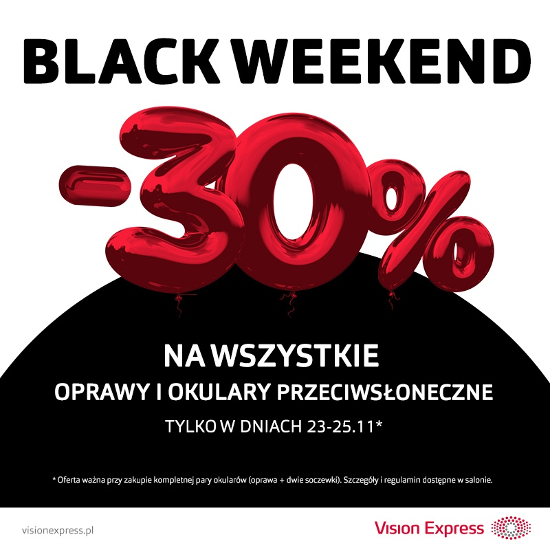 Black Weekend w salonach Vision Express