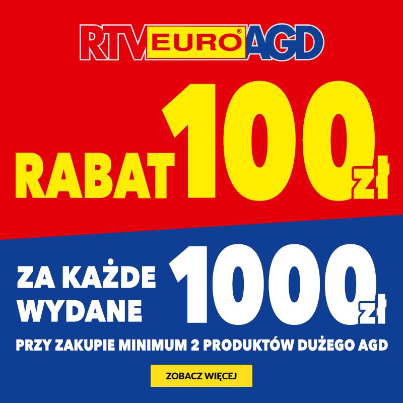 Rabat 100 zł za każde wydane 1000zł!
