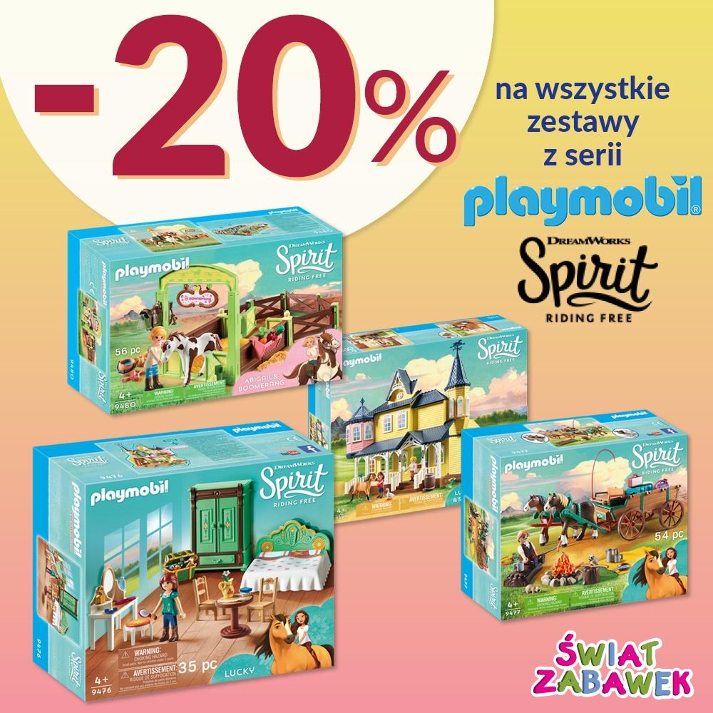 -20% na wszystkie zestawy z serii Playmobil