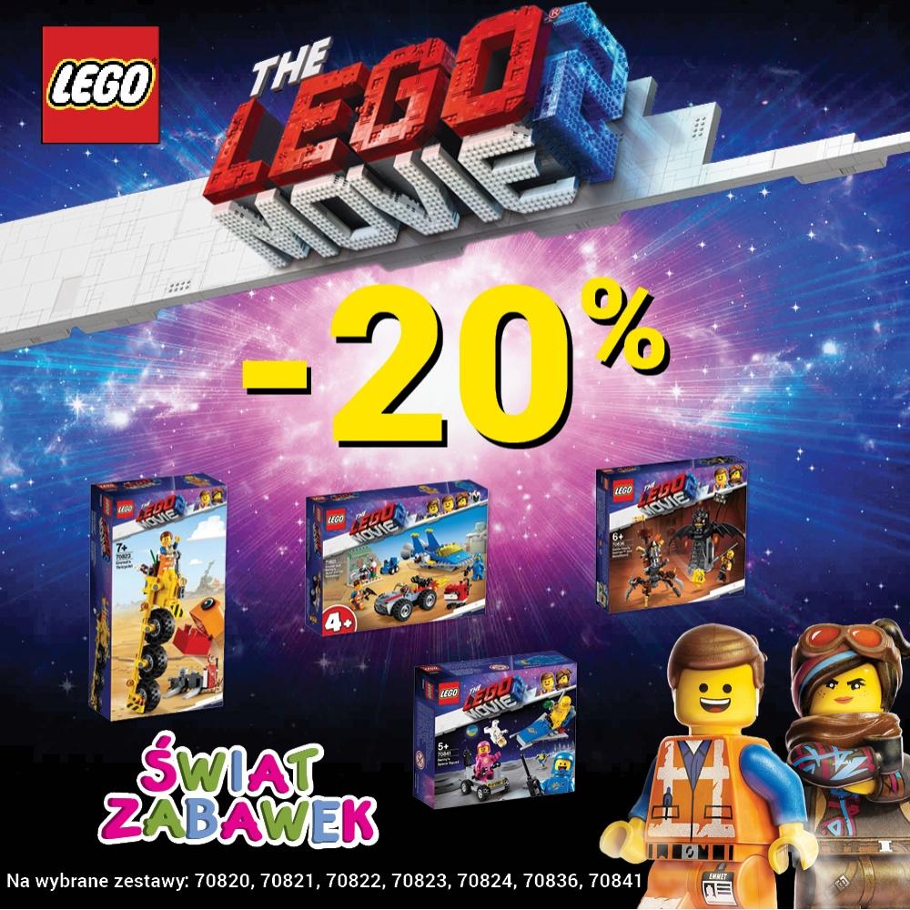 - 20 % na wybrane zestawy LEGO MOVIE.