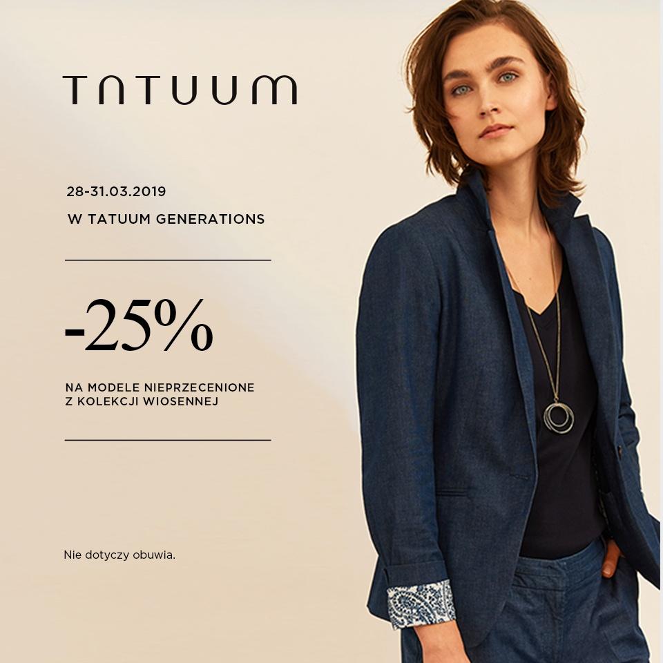 -25% na modele nieprzecenione z kolekcji wiosennej!