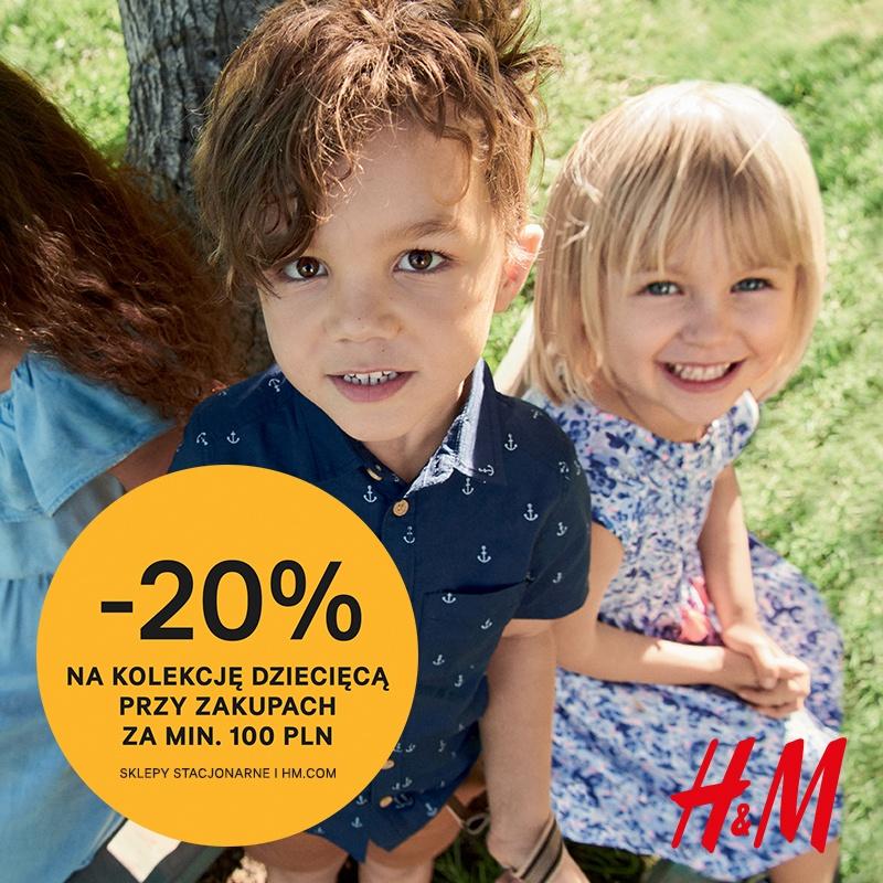 20% rabatu na kolekcję dziecięcą