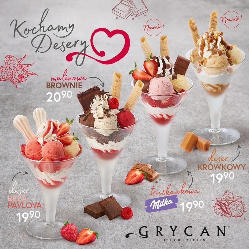 Nowe desery lodowe!