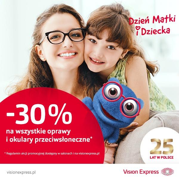 - 30% na wszystkie oprawy i okulary przeciwsłoneczne!