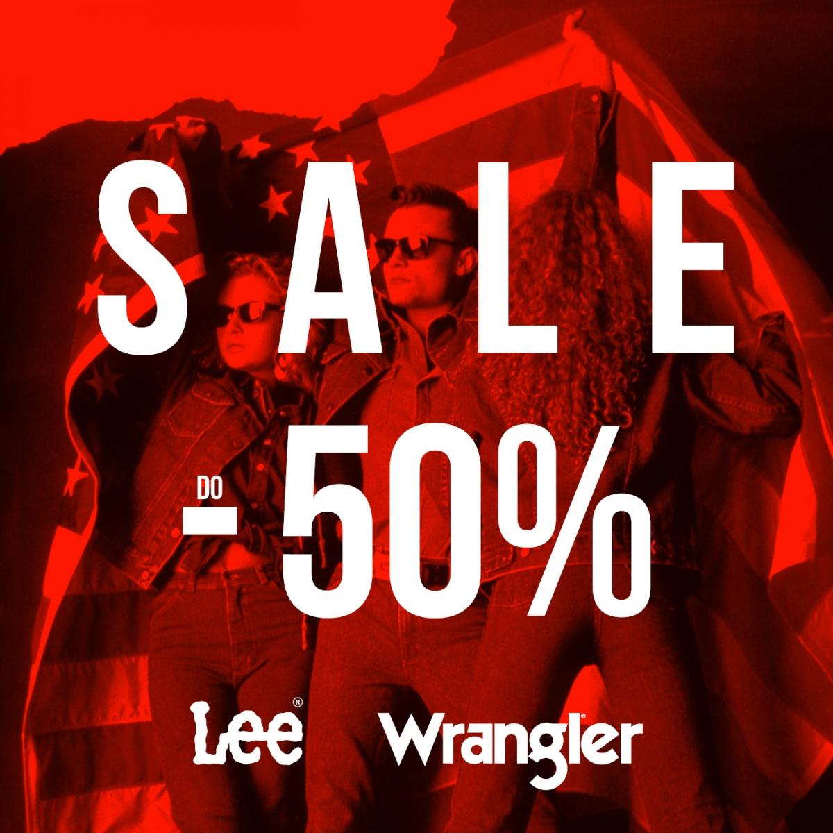 do -50 % w Wrangler Lee!