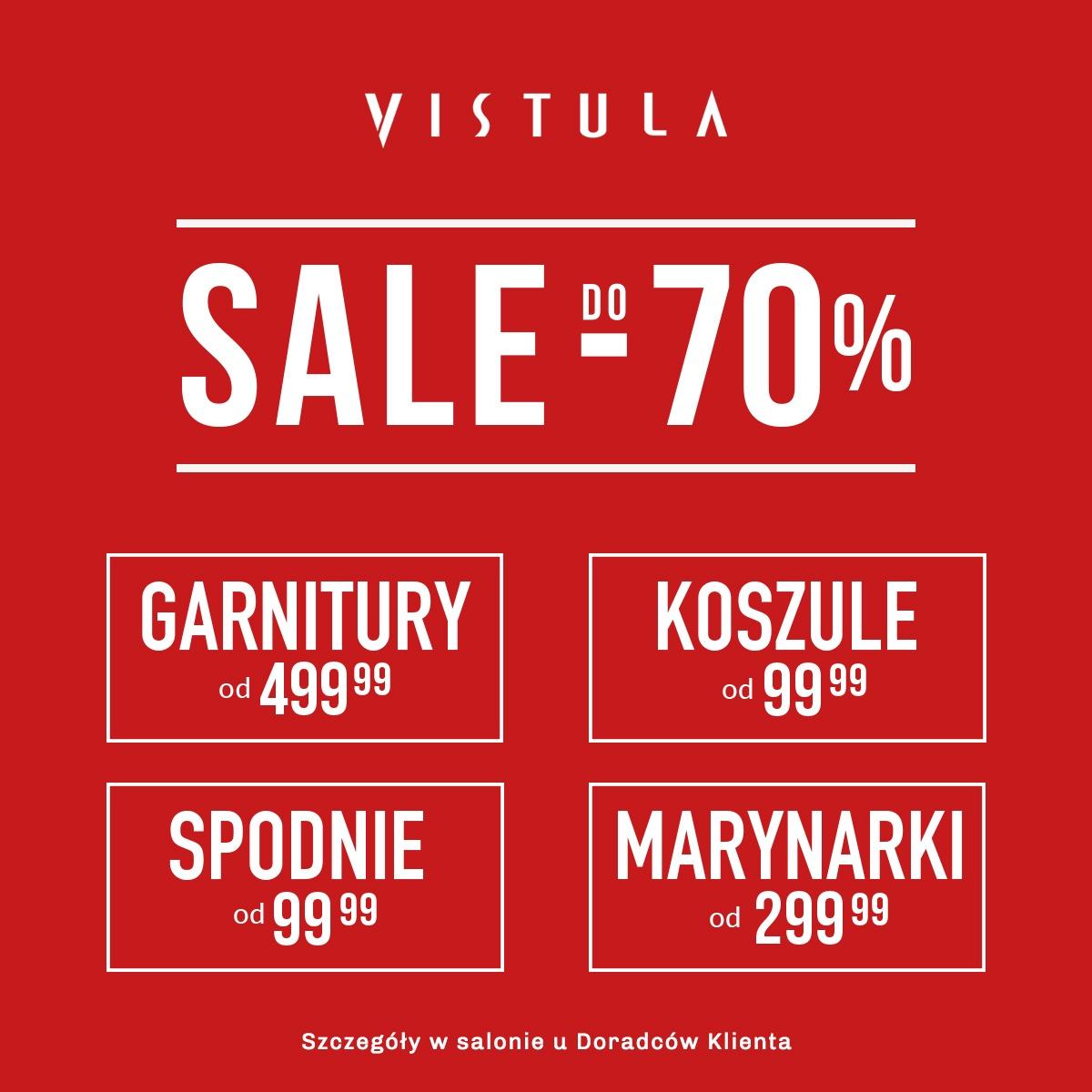 SUPER CENY w salonie VISTULA! Sale do -70%