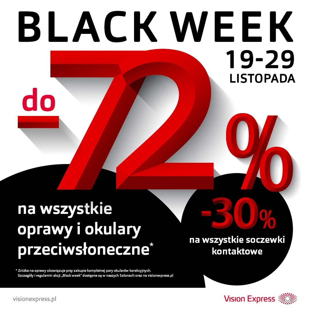 BLACK WEEK w salonach Vision Express