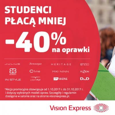 W VISION EXPRESS STUDENCI PŁACĄ MNIEJ