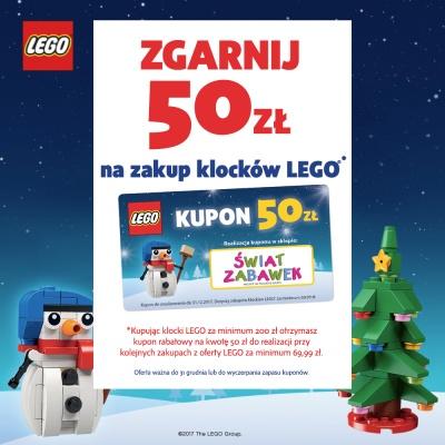 ZGARNIJ 50 ZŁ NA ZAKUP KLOCKÓW LEGO