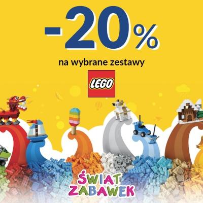 -20% NA WYBRANE ZESTAWY LEGO W SKLEPIE ŚWIAT ZABAWEK
