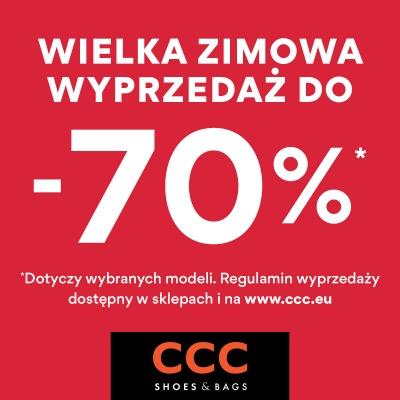WIELKA ZIMOWA WYPRZEDAŻ DO -70% W CCC!