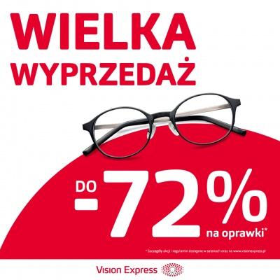 DO -72% NA OPRAWKI W VISION EXPRESS
