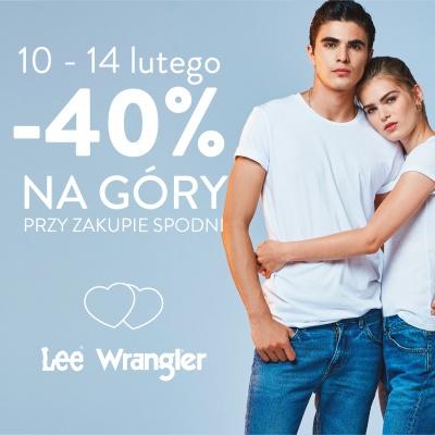 -40% NA GÓRY PRZY ZAKUPIE SPODNI LEE WRANGLER!