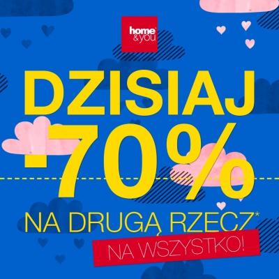 -70% NA DRUGĄ RZECZ W HOME&YOU