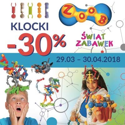 -30% NA KLOCKI W ŚWIECIE ZABAWEK