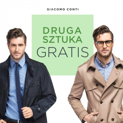 DRUGA SZTUKA GRATIS W GIACOMO CONTI