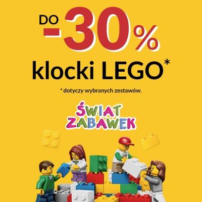 -30% NA KLOCKI LEGO W ŚWIECIE ZABAWEK