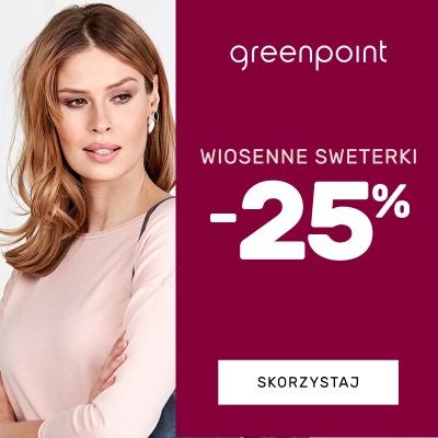-25% NA WIOSENNE SWETERKI W GREENPOINT