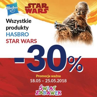 -30% NA PRODUKTY STAR WARS HASBRO W ŚWIECIE ZABAWEK