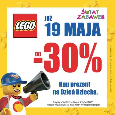 DO -30% NA LEGO W ŚWIECIE ZABAWEK