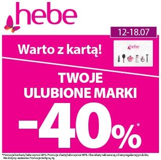 Twoje Ulubione Marki -40% Warto z kartą hebe!