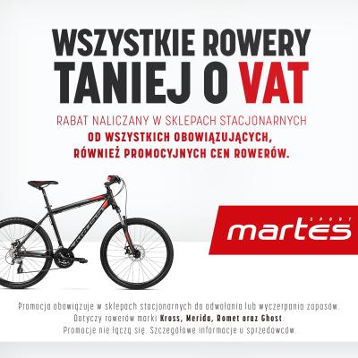 Posezonowa wyprzedaż! Wszystkie rowery taniej o VAT