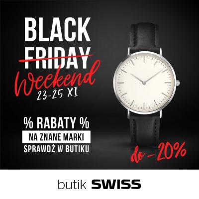Black weekend w butiku SWISS