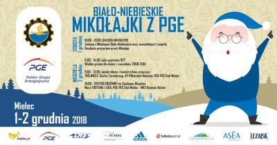 Biało- Niebieskie Mikołajki z PGE