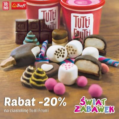 Rabat -20% na ciatsolinę  Tutti Frutti