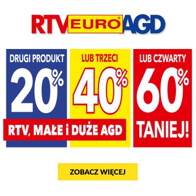 Duże i małe AGD oraz wybrane RTV nawet do 60% taniej w sklepach RTV EURO AGD oraz na euro.com.pl