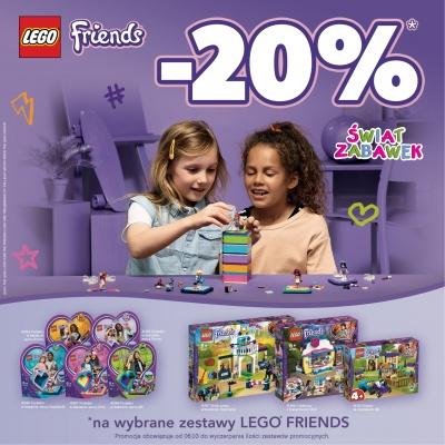- 20 % na wybrane produkty LEGO FRIENDS