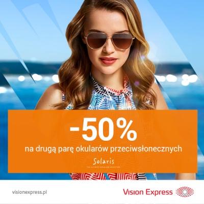 50% zniżki na drugą parę okularów przeciwsłonecznych!