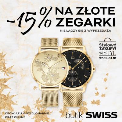 -15% na Złote Zegarki