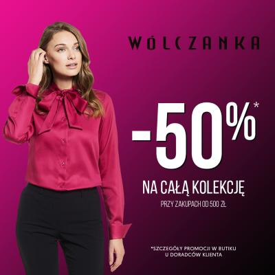 Do -50% w butiku WÓLCZANKA!