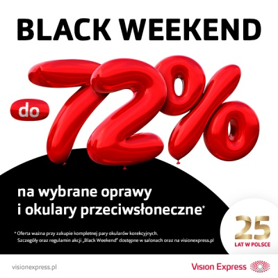 BLACK WEEKND DO -72%