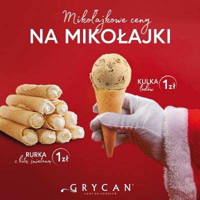 Z okazji Mikołajek kulka lodów lub rurka tylko 1 zł!