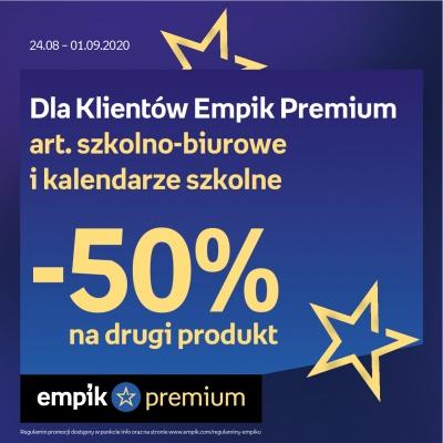 Dla klientów Empik Premium artykuły szkolno-biurowe i kalendarze szkolne -50% na drugi produkt
