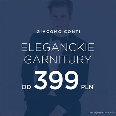 Skorzystaj z niesamowitych promocji w salonach mody męskiej Giacomo Conti.