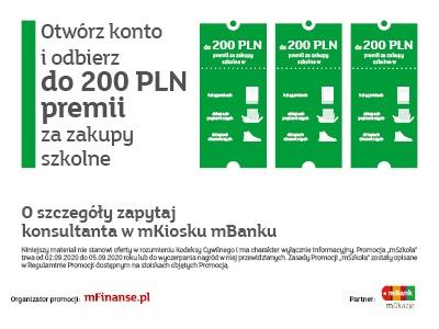 Otwórz konto i odbierz do 200PLN premii za zakupy szkolne!