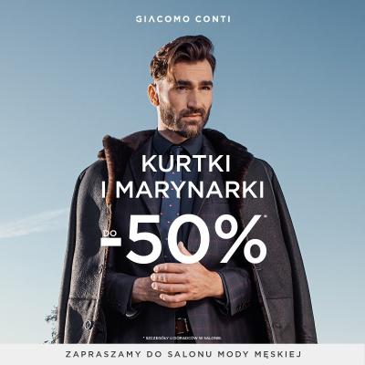 Okrycia wierzchnie i marynarki do -50%!