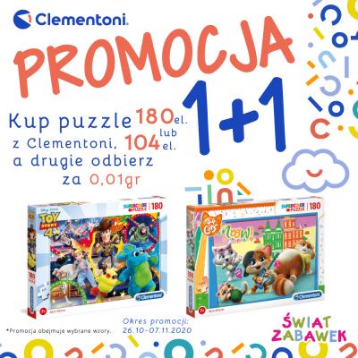 Puzzle z Clementoni kupisz w promocji 1+1