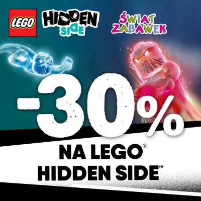 - 30% na LEGO HIDDEN SIDE.